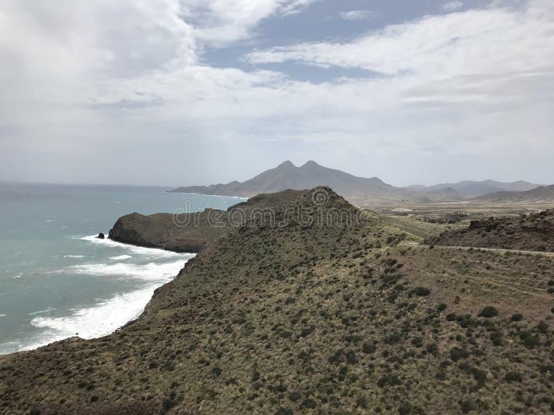Costa di Cabo de Gata fotografia stock libera da diritti