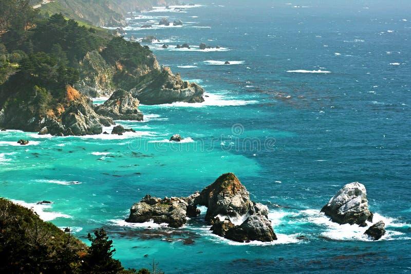 Costa di California fotografia stock