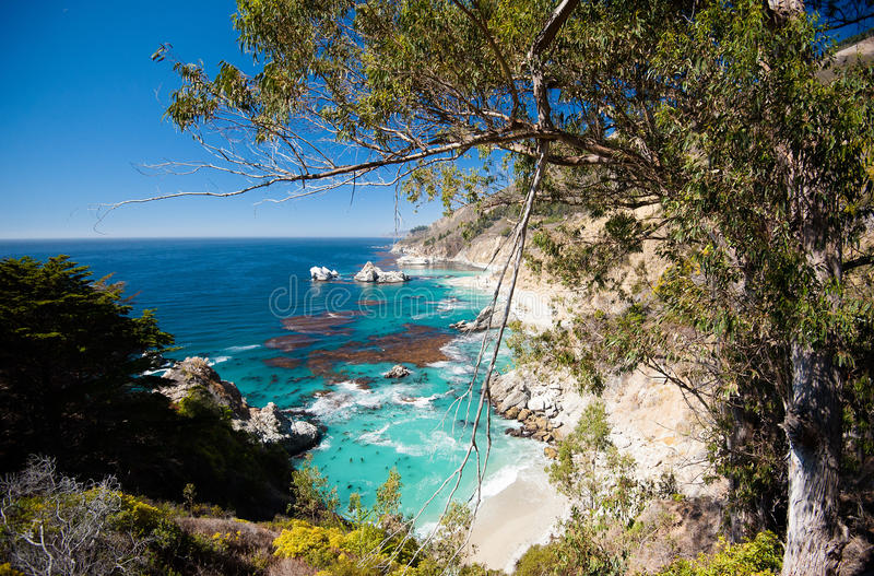 Costa di California - di Big Sur fotografia stock