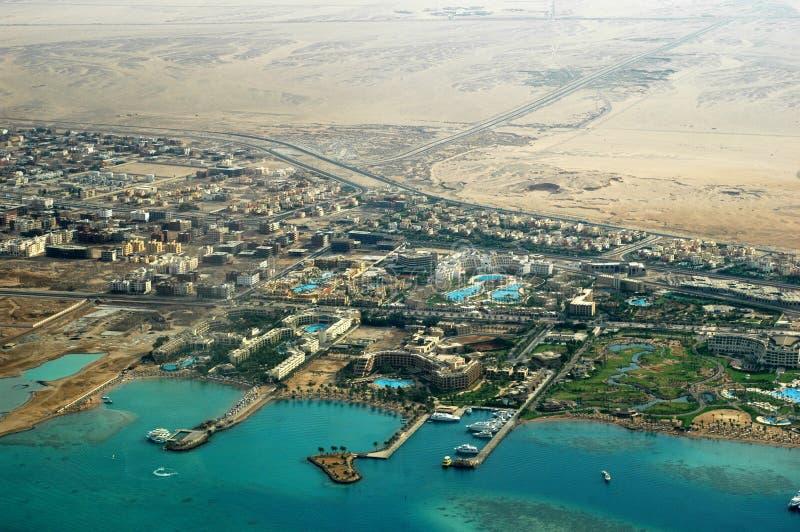 Costa di Hurghada fotografie stock