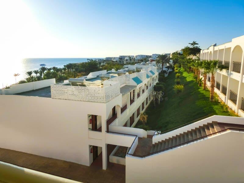 Costa di Mar Rosso nel primo mattino, Egitto, Sharm Al-Sheikh immagini stock libere da diritti