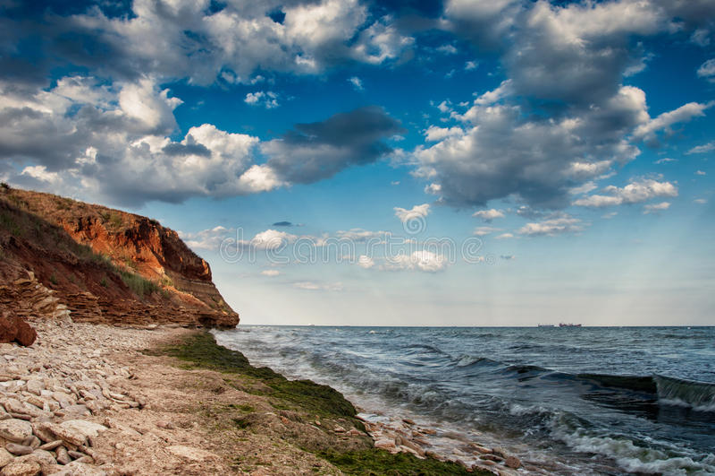 Costa di mare in Chabanka Odesa Ucraina fotografia stock libera da diritti