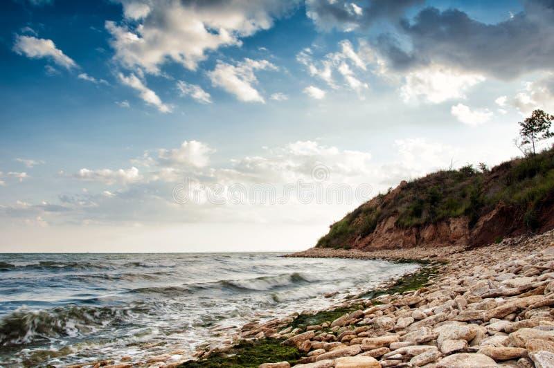 Costa di mare in Chabanka Odesa Ucraina immagine stock
