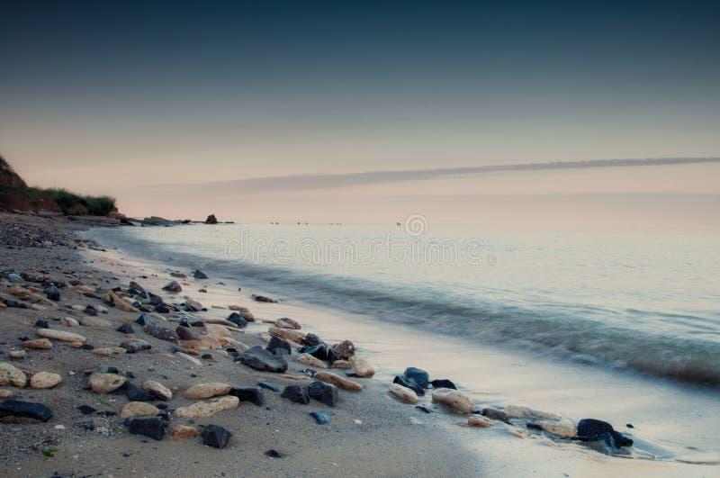 Costa di mare in Chabanka Odesa Ucraina immagini stock libere da diritti