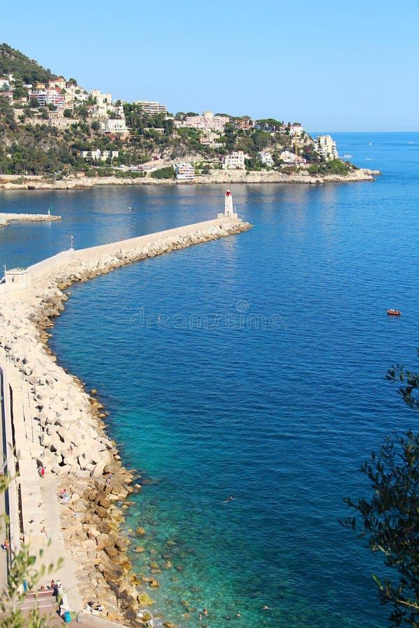 Costa di mare nizza in citt francia immagine stock - Agenzie immobiliari nizza francia ...