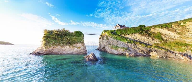 Costa di Newquay l'Oceano Atlantico, Cornovaglia, Inghilterra fotografie stock libere da diritti