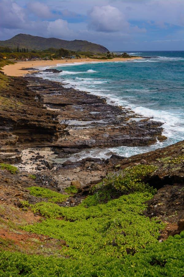 Costa di Oahu immagine stock
