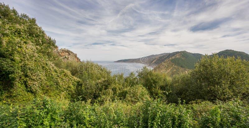 Costa di Paese Basco in San Sebastian immagini stock