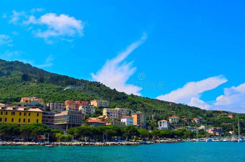 Costa di Portovenere in Italia fotografia stock