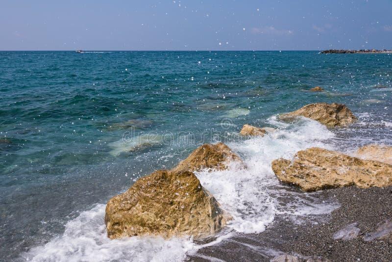 Costa di Rocky Italian in Campora San Giovanni immagini stock