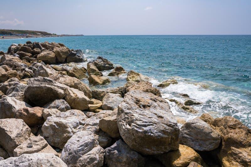 Costa di Rocky Italian in Campora San Giovanni fotografia stock libera da diritti