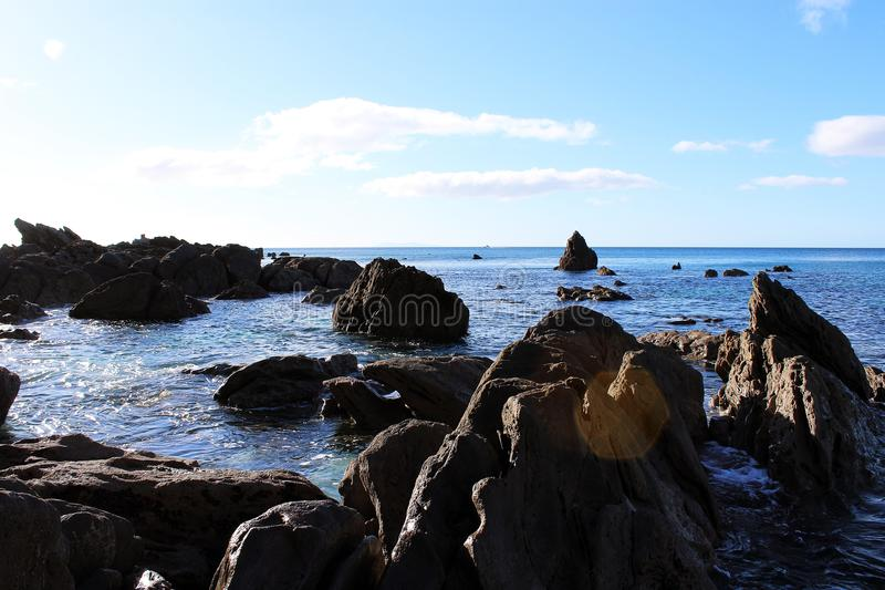 Costa di Tauranga, Nuova Zelanda fotografia stock libera da diritti
