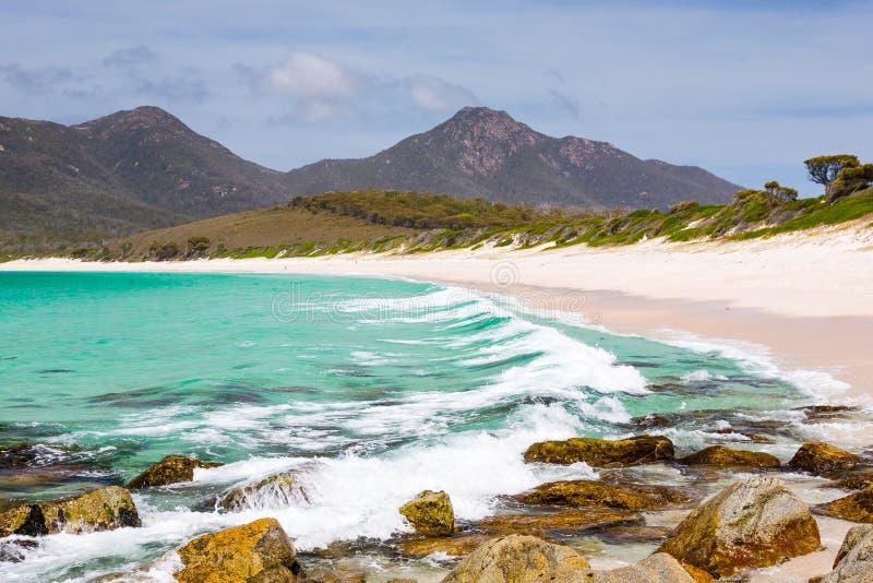 Costa do australiano da baía do copo de vinho fotografia de stock royalty free
