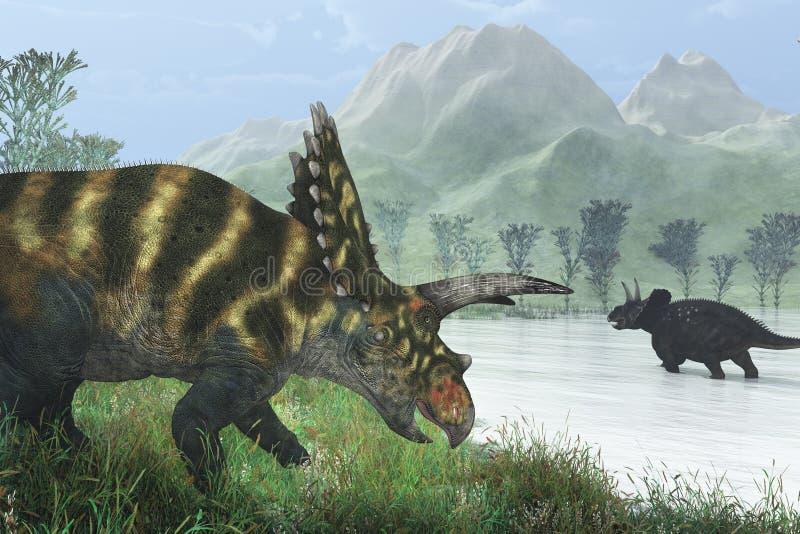 Costa do dinossauro ilustração stock