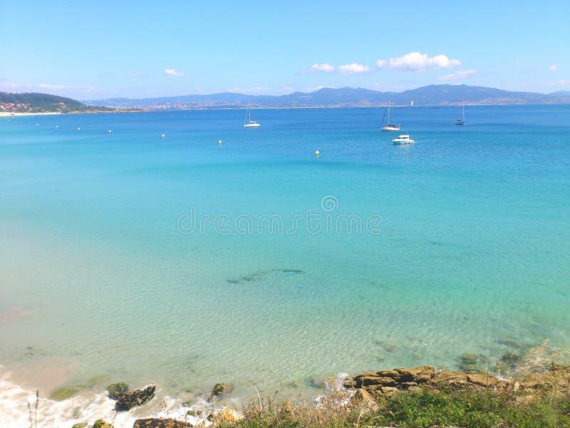 Costa do espanhol da praia fotos de stock