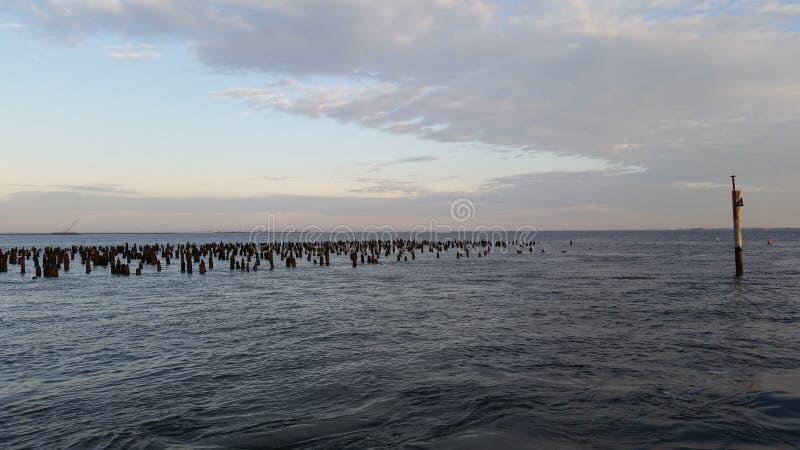 Costa do jérsei da manhã fotografia de stock