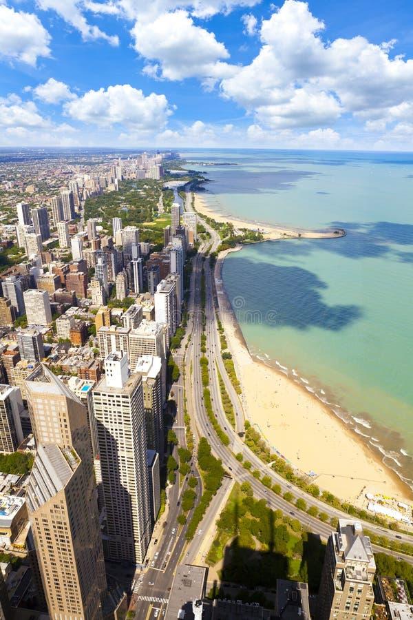 Costa do lago chicago fotografia de stock