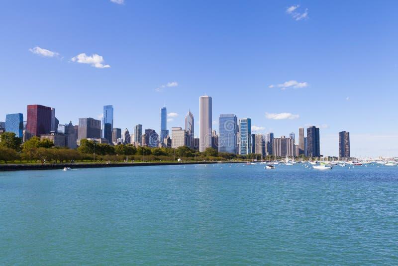 Costa do lago chicago imagem de stock