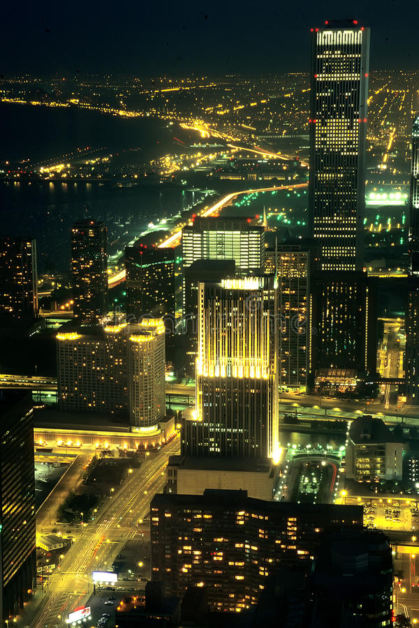 Costa do lago chicago do edifício de John Hancock fotografia de stock royalty free
