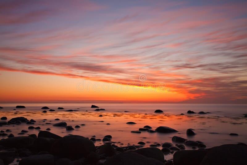 Costa do mar Báltico fotografia de stock