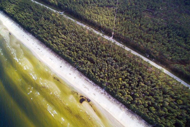 Costa do mar Báltico, Letónia fotografia de stock