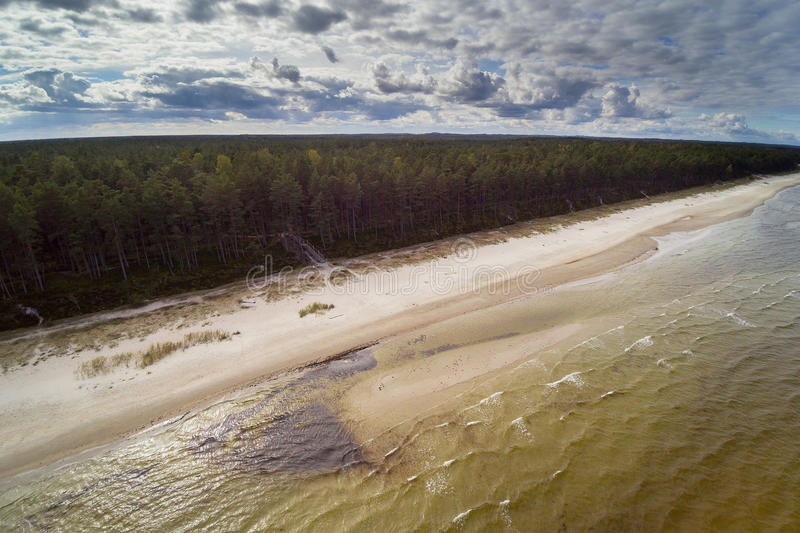 Costa do mar Báltico, Letónia fotografia de stock royalty free