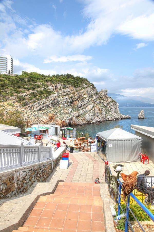 Costa do Mar Negro fotografia de stock
