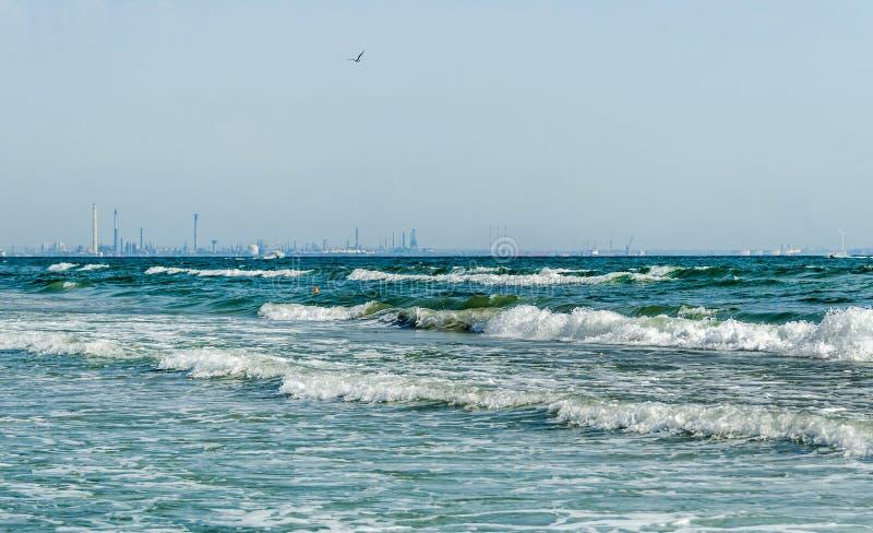 A costa do Mar Negro, Capul Midia foto de stock