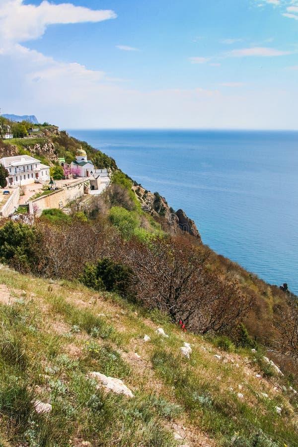 A costa do Mar Negro perto do cabo Fiolent fotografia de stock royalty free