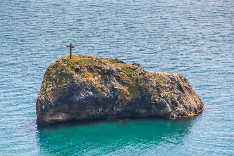 A costa do Mar Negro perto do cabo Fiolent fotos de stock