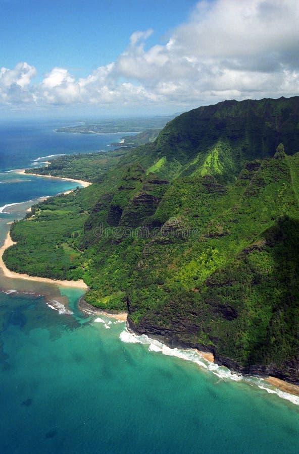 Costa do Na Pali, Kauai fotos de stock