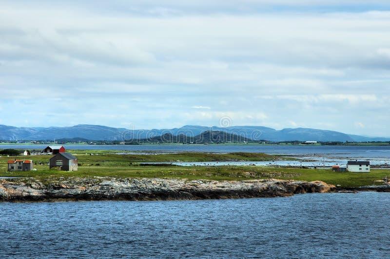 Costa do norte de Noruega imagem de stock royalty free