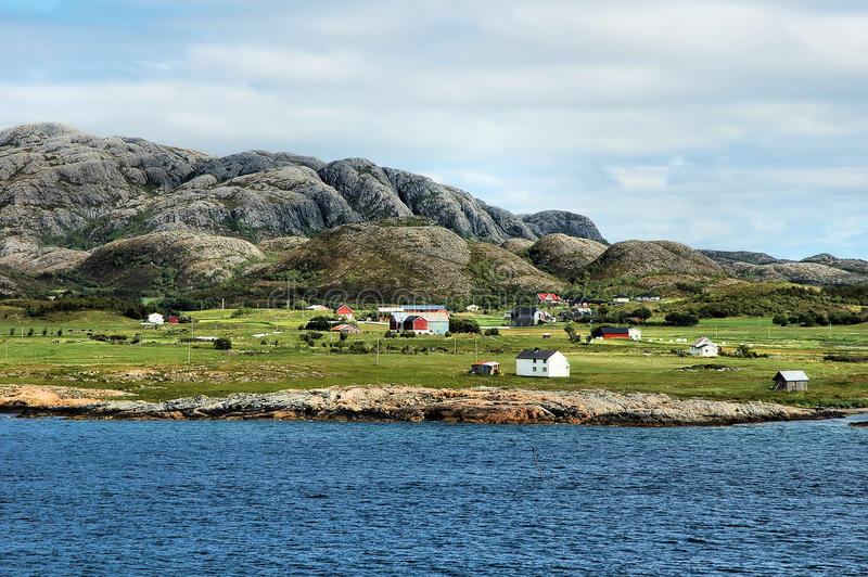 Costa do norte de Noruega foto de stock