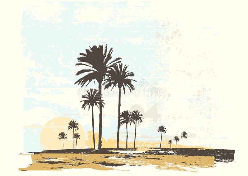 Costa do oceano ilustração royalty free