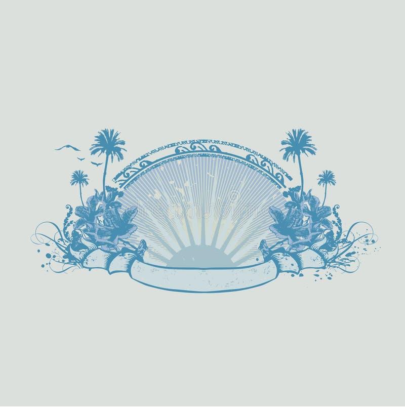 Costa do oceano ilustração do vetor