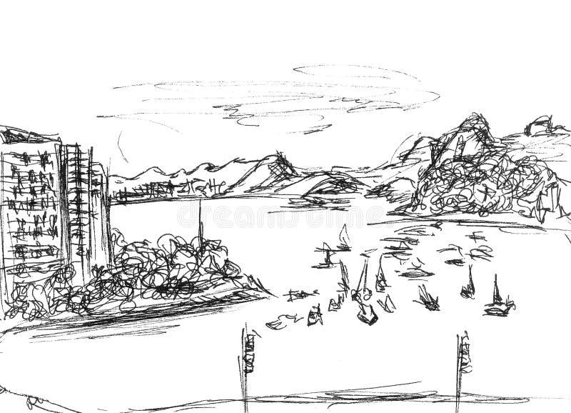 Costa do Oceano Atlântico ilustração do vetor