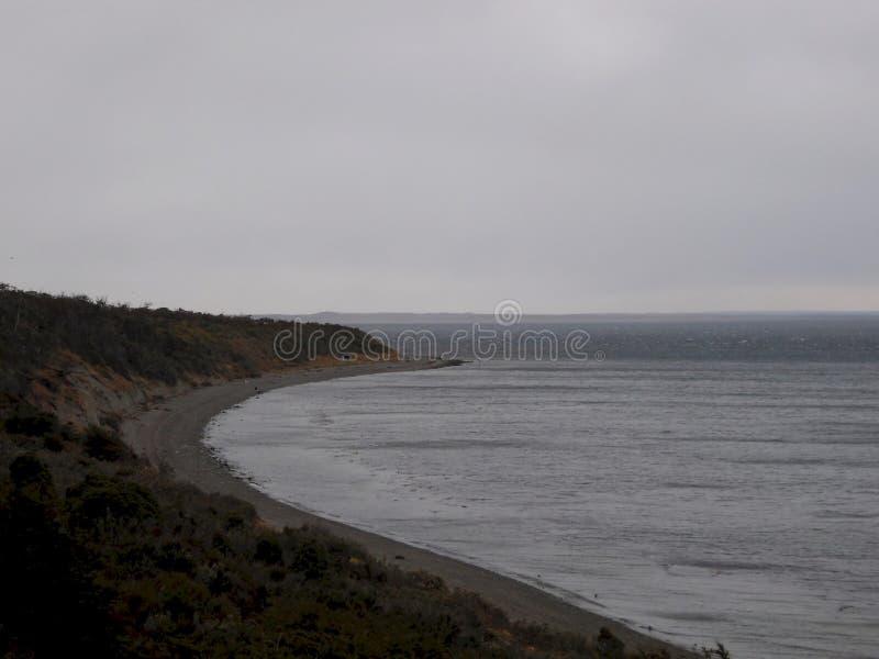 A costa do Oceano Pacífico de cima de imagens de stock royalty free