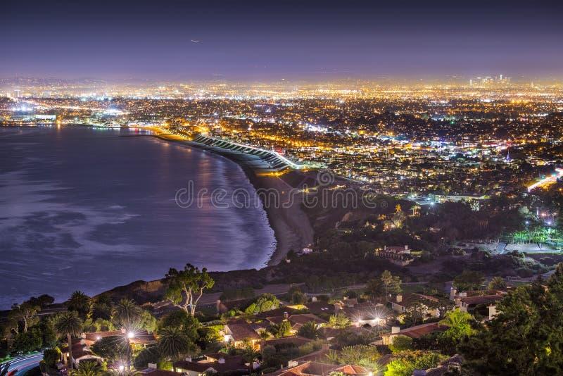 Costa do Pacífico de Los Angeles imagem de stock