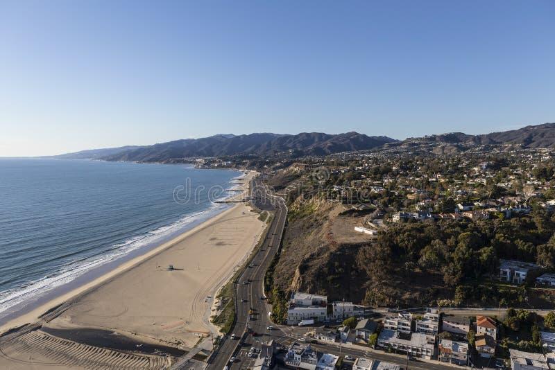 Costa do Pacífico Los Angeles e Malibu aéreos Califórnia fotos de stock royalty free
