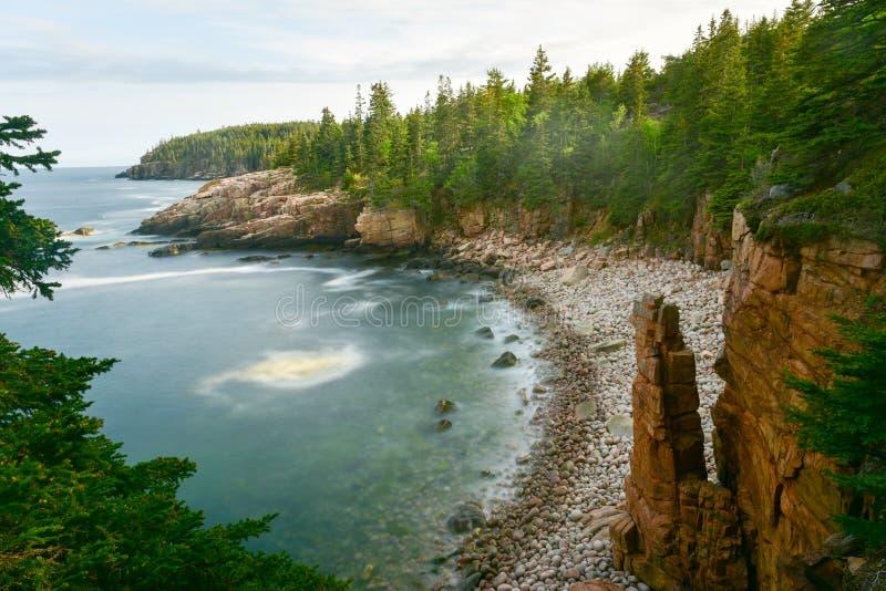 Costa do parque nacional do Acadia imagem de stock royalty free