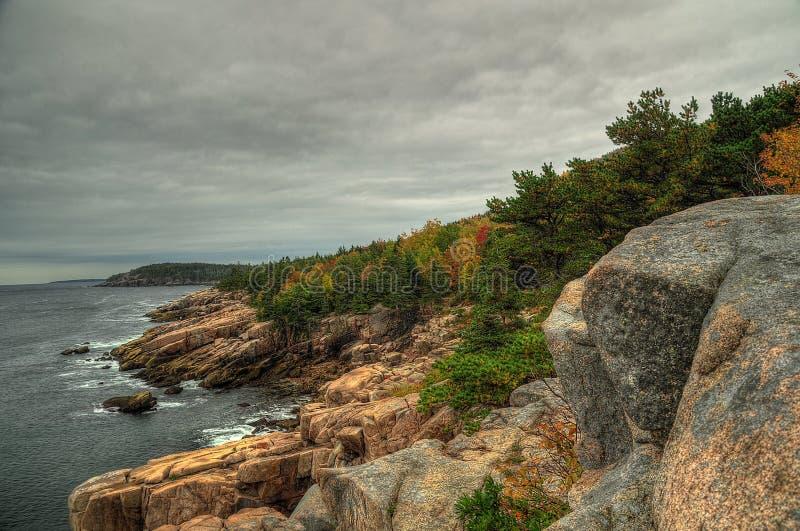 Costa do parque nacional do Acadia, porto da barra imagens de stock