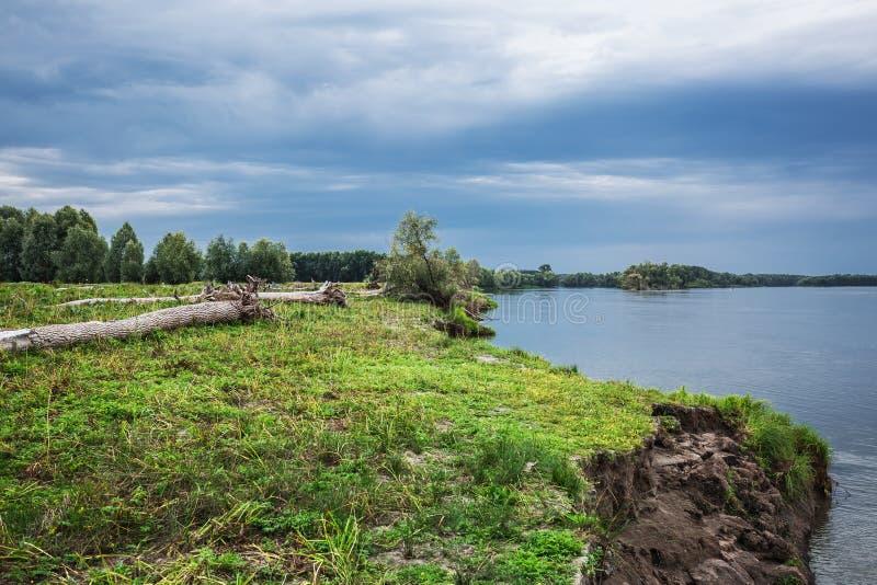 A costa do Rio Ob com senões Sibéria ocidental imagem de stock