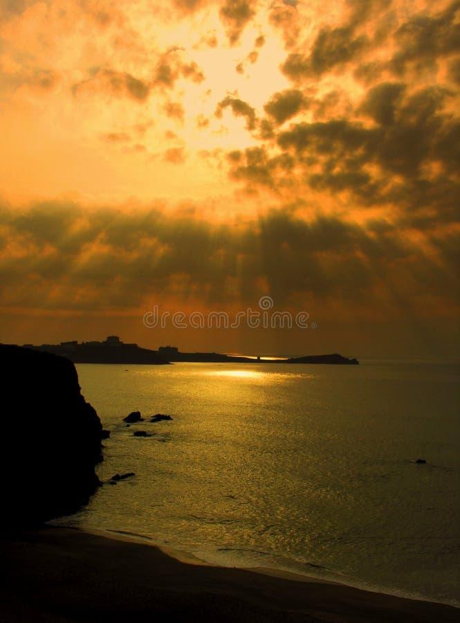 Costa dourada foto de stock