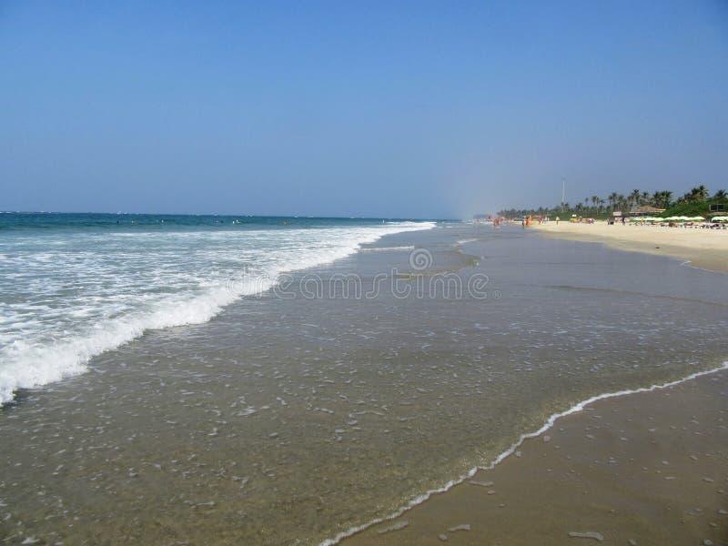 A costa e as praias de Goa fotografia de stock