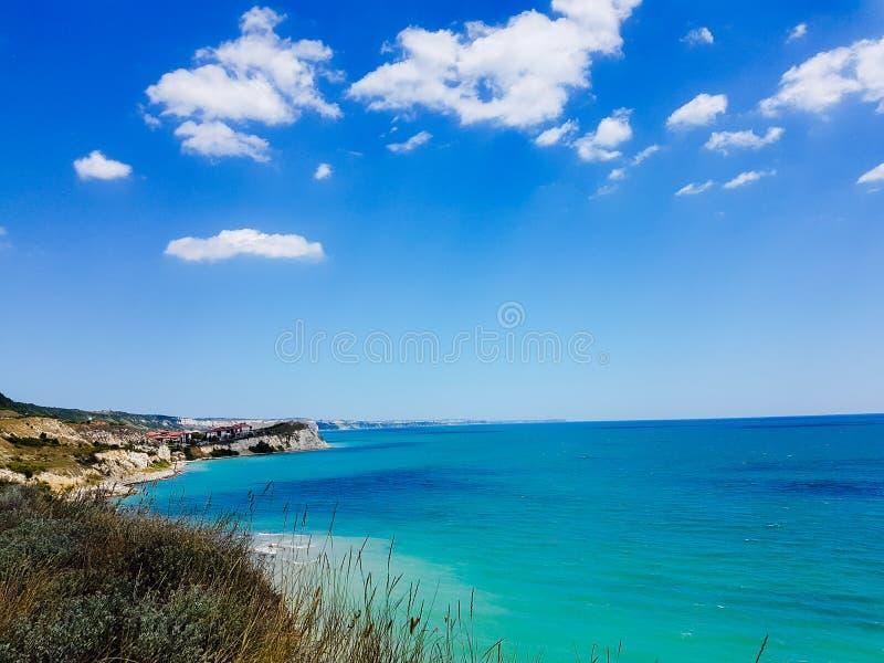 Costa e o Mar Negro búlgaros imagens de stock