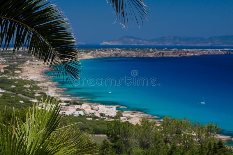 Costa e praias de Formentera fotos de stock