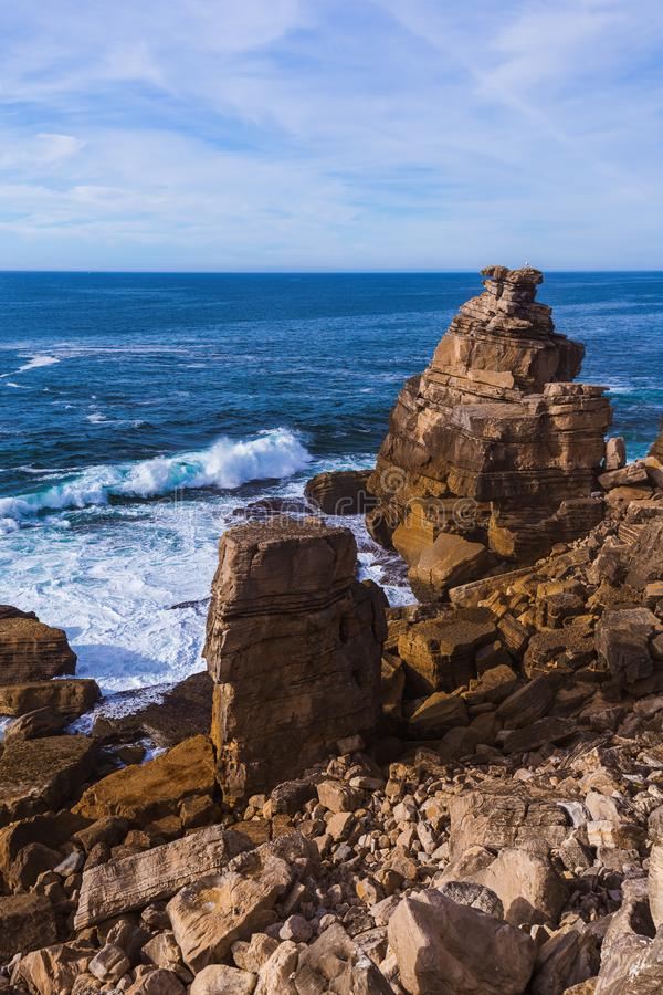 Costa em Peniche - Portugal imagens de stock royalty free