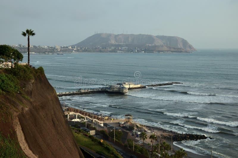 Costa costa en Miraflores en Lima imágenes de archivo libres de regalías