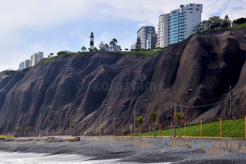 Costa costa en Miraflores en Lima fotos de archivo libres de regalías
