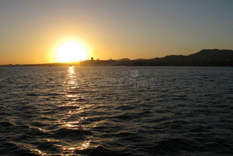 Costa costa en Sharm el Sheikh, Egipto, Sina? del Mar Rojo fotografía de archivo
